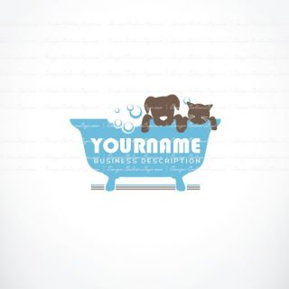 Pet wash Logo design
