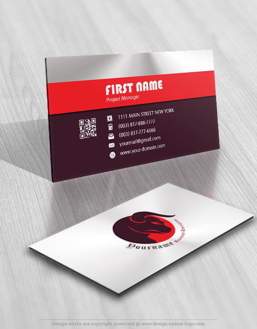 red Bull logo Design business card