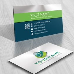 Design 3D Globe Logo FREE Business Card