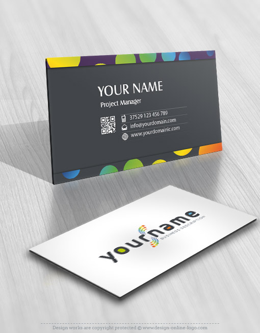 Abstract dots Logo FREE Business Card