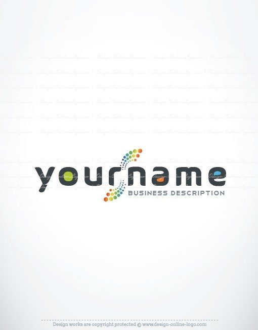 Ready made online Logo design with a Abstract path from dots icon