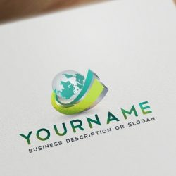 Ready made online 3D Globe Logo design