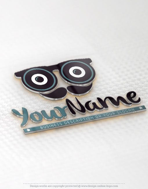 Vintage man eye glasses Logo