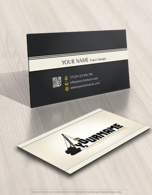 Construction Logo FREE Business Card