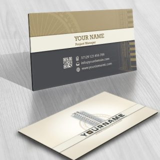 Construction Building Logo FREE usiness Card
