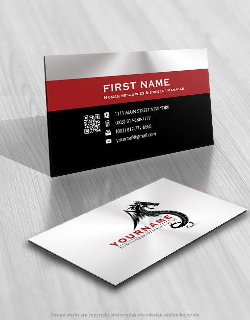 Dragon Logo FREE Business Card
