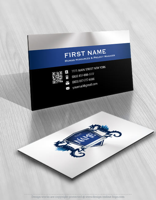 Dragon crest Logo FREE Business Card
