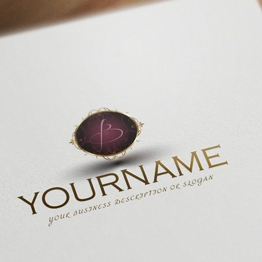 Initials Logo design jewelry