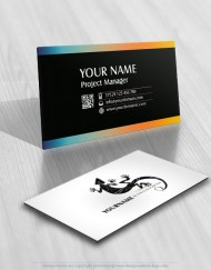 Logo design with Colorful Lizard business-card