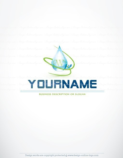Eco Water Logo for sale