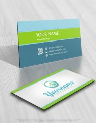 Alphabet Water splash Logo FREE Business Card