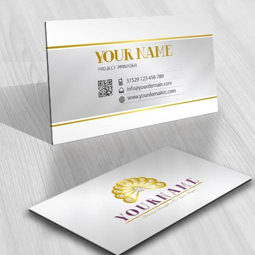 diamond woman hair  Logo business cards