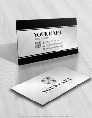 Premium Diamonds flower logo design business-card