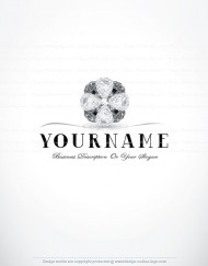 Premium Diamonds flower logo design