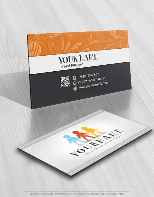 People Group online Logo business card design