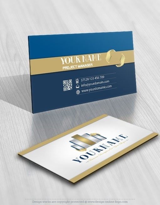 Ready made 3D Logo design Business card