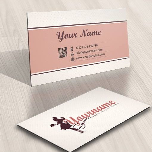 business card sexy Female Cook logo design
