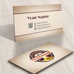 Fast food Vintage Logo FREE Business Card