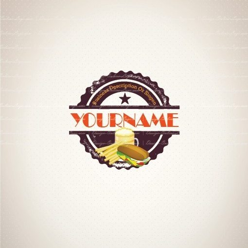 Pub vintage fast food logo template for sale
