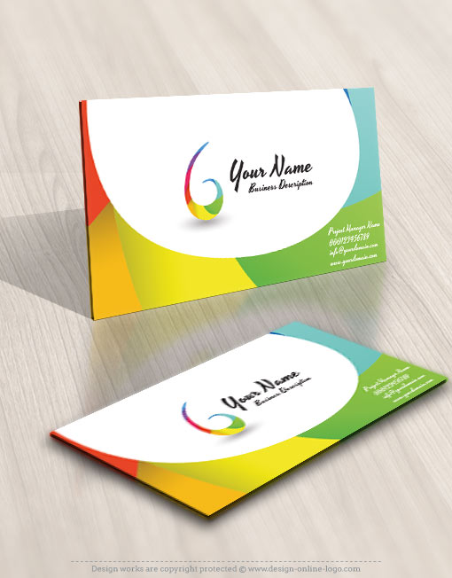 Abstract Company Logo design business card
