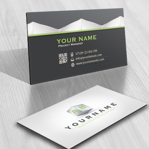Initial online Logo design business card