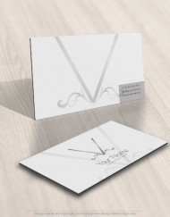 decorations V Initial logo design business card