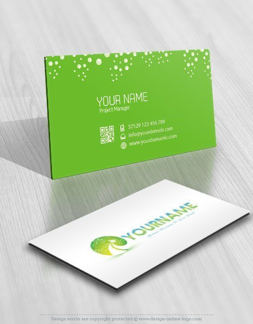 Cleaning path logo biz card design