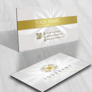 Decorative Butterfly Logo biz card