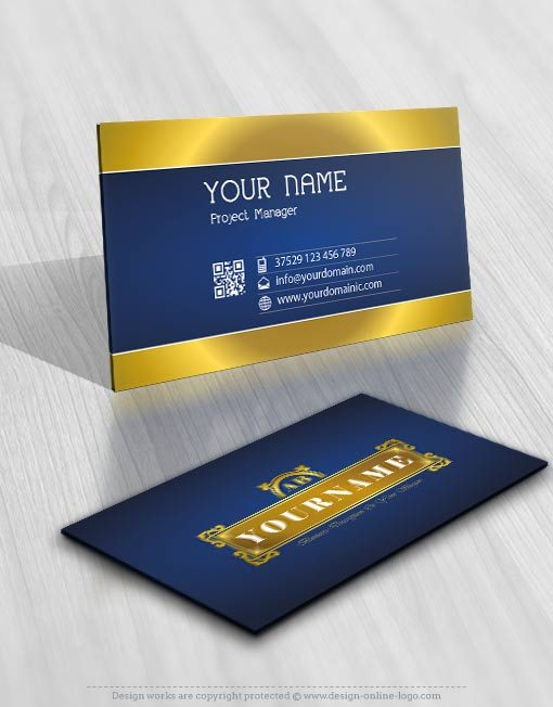 Royal Blue Alphabet Logo biz card