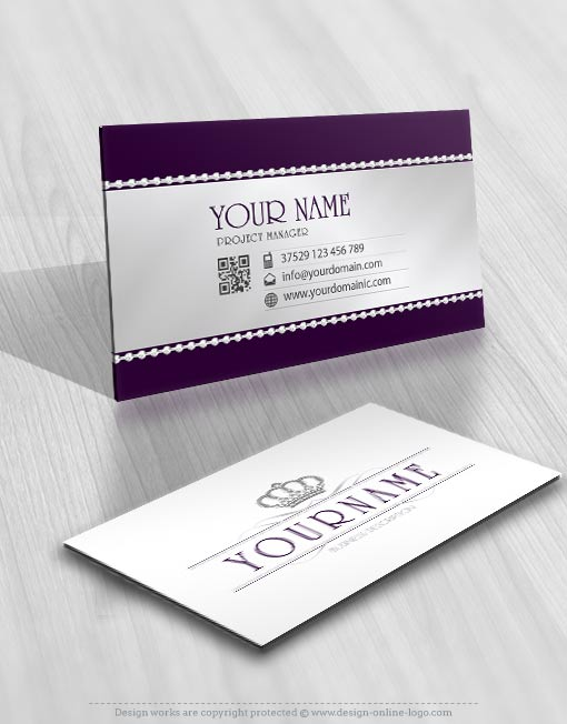 Diamond Crown Logos biz card design