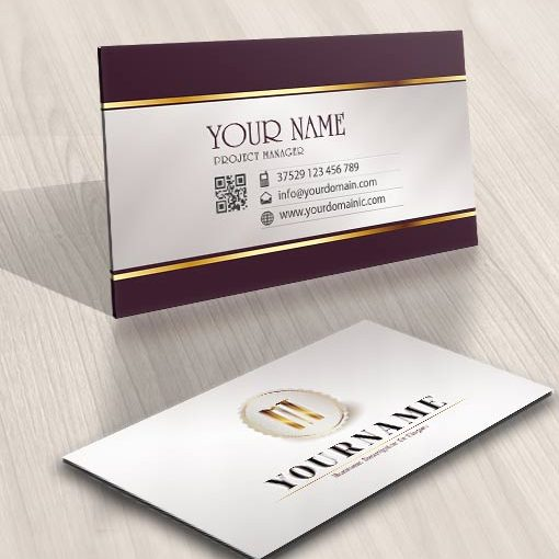 biz cards Logos design initials stamp
