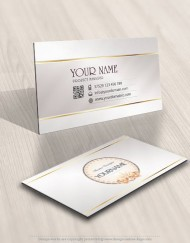 biz card design Pearls flowers logo