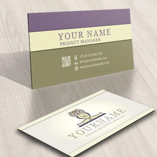 Education owl logo card design