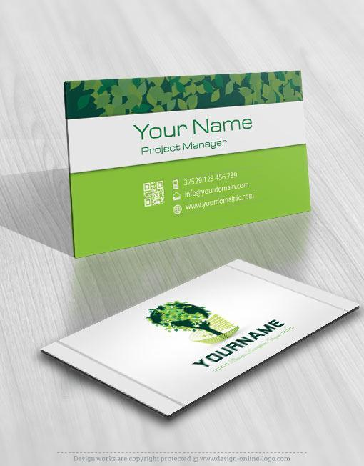 Globe tree logo template free business card 3132 green eco tree logo free business card colourmoves