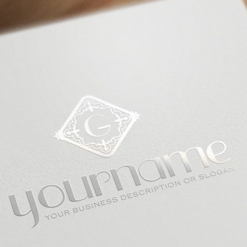 Golden Alphabet Logo Design FREE Business Card