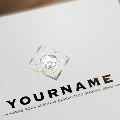 BW Online Diamonds logo design