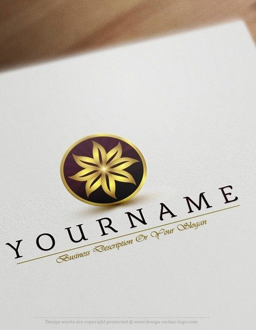 Elegant Gold flower logo