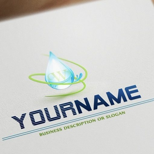 Eco Water Logo FREE Business Card