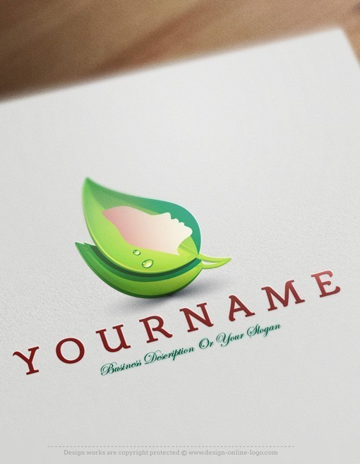 Cosmetics Beauty spa logo design
