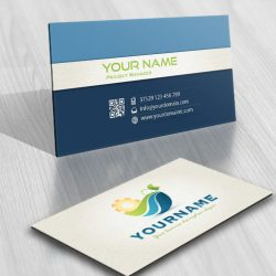 Industrial eco Logos biz card
