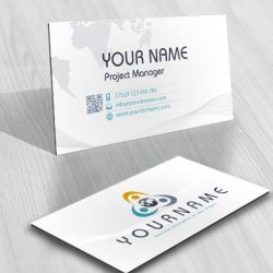 People holding Globe Logos biz card design