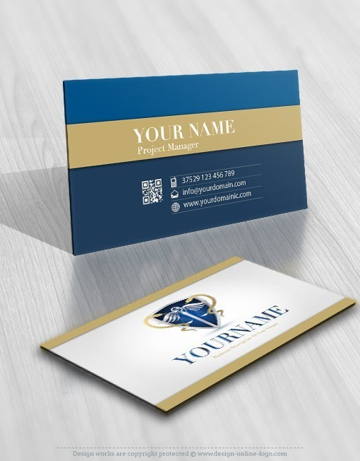 Legal Medical Shield logo biz cards