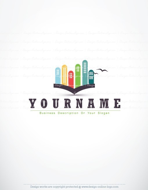 Exclusive Design City Book Logo Free Business Card