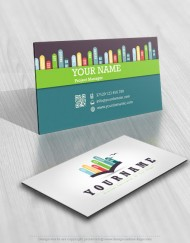 City Book logo design biz card