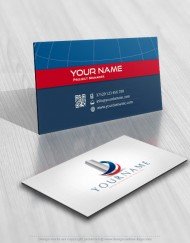 Real Estate Properties Logo card design