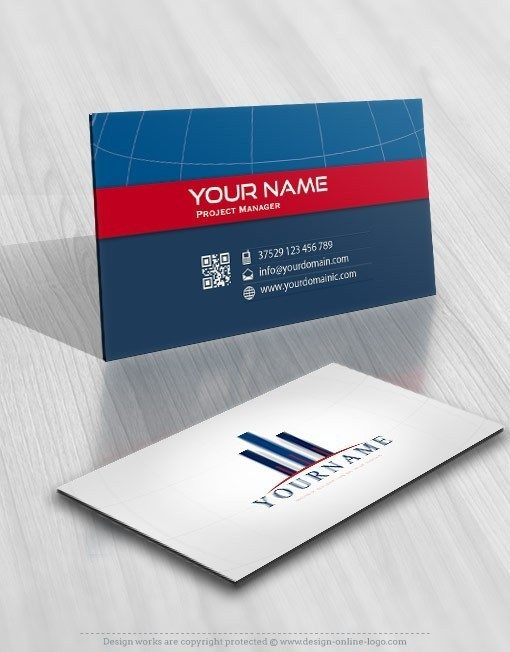 Real Estate Construction Logo card design