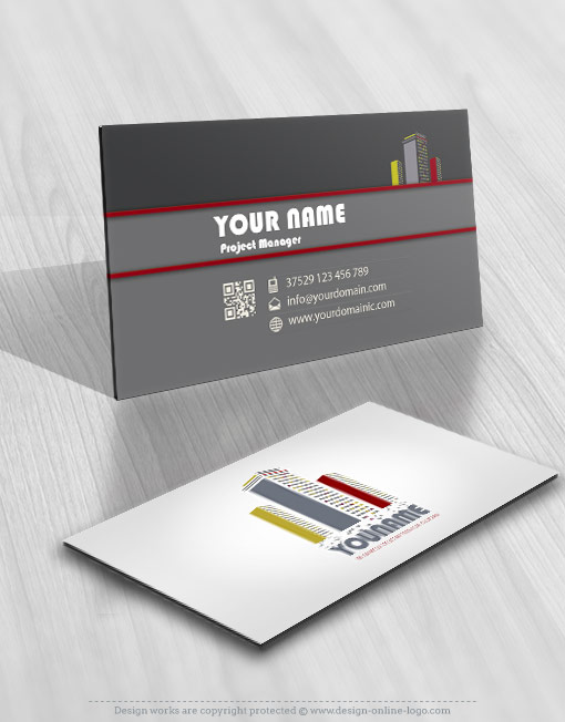 Realty Construction card Logos