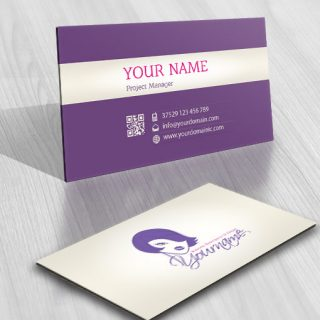 Female face logo card design