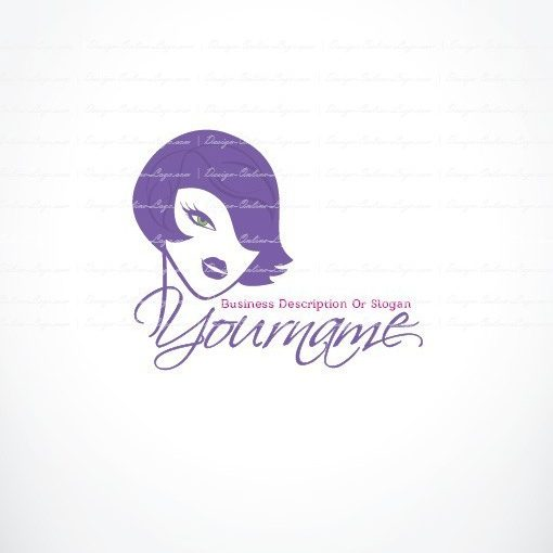 Female face logo design
