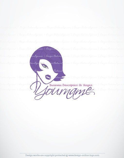Exclusive Design Sexy Woman Face Logo